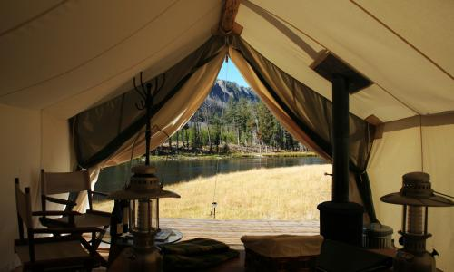 Glamping in Yellowstone