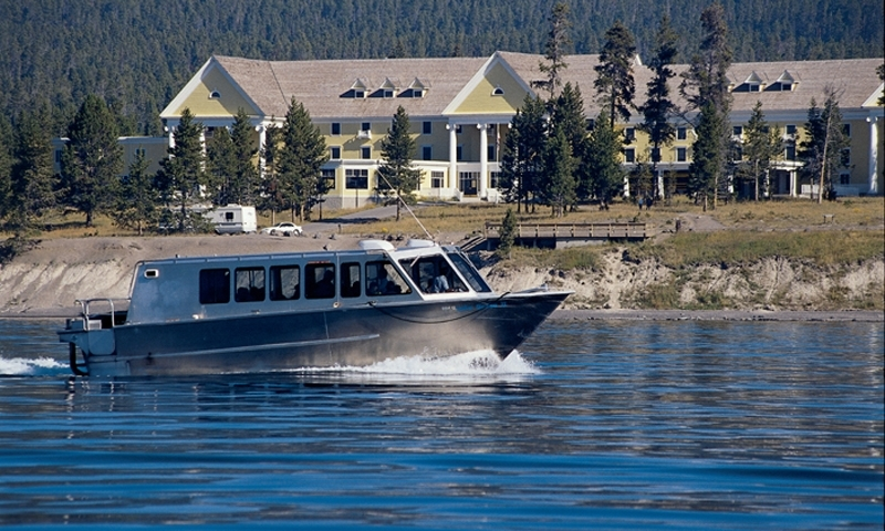 Boat Tour near Yellowstone Lake Hotel
