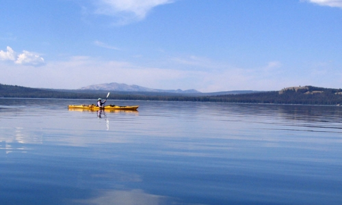 Kayaking West Yellowstone Montana Lake Yellowstone  National Park