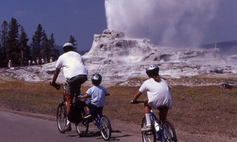 Biking Yellowstone
